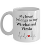 My Heart Belongs to My Wirehaired Vizsla Mug Dog Lover Novelty Birthday Gifts