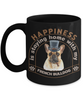 Happiness is Staying Home With My French Bulldog Black Mug Gift Dog Mom Dad Novelty Birthday Cup