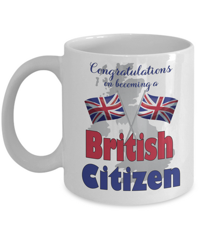 New UK Citizen Mug Proud to Be British Congratulations Novelty Citizenship Gift Ceramic Coffee Cup