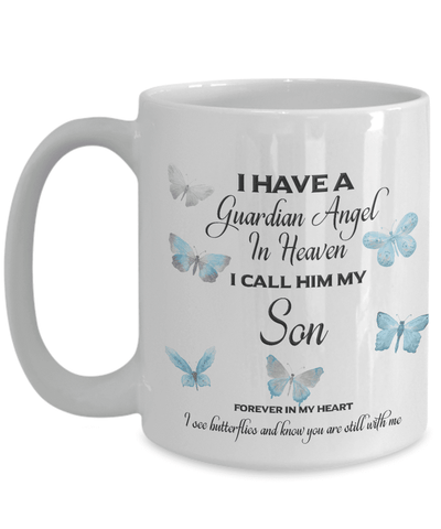Image of Memorial Gift, I Have a Guardian Angel in Heaven Son  Remembrance Gifts