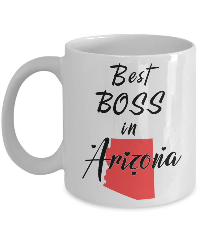 best boss in arizona state mug novelty birthday christmas gifts ceramic coffee cup for employer day