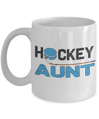 Hockey Aunt Mug Gift Auntie Novelty Birthday Ceramic Coffee Cup