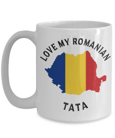 Love My Romanian Tata Mug Novelty Birthday Gift for Partner Ceramic Coffee Cup