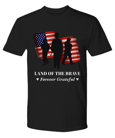 United States Veteran Black Shirt Gift Thank You for Patriotic Military Service Appreciation T-Shirt