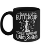 Halloween Buckle Up Buttercup Witch Switch Black Mug Funny Gift Spooky Haunted Novelty Coffee Cup