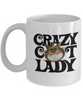 "Gift for Cat lovers, ""Crazy Cat Lady Gift Mug"" Novelty Coffee Mug"