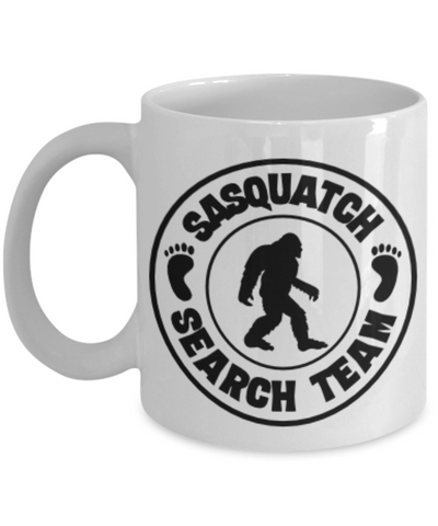 Image of Sasquatch Hunters Search Team Coffee Mug Bigfoot Ceramic Coffee Cup Big Foot
