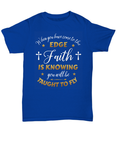 Taught to Fly Faith Shirt Unisex Gift Inspirational Christian Novelty T-Shirt