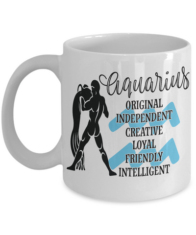 Image of Aquarius Zodiac Mug Gift Fun Novelty Birthday Coffee Cup