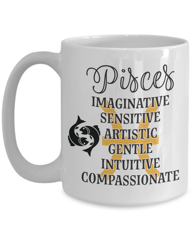 Pisces Zodiac Mug Gift Fun Novelty Birthday Coffee Cup