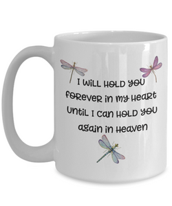 "Dragonfly Memorial Gifts I Will Hold You Forever In My Heart..."" Baby Child Memorial Gifts"