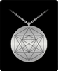 Hexagon Metatron Adaptation Pendant Sacred Geometry Laser Etched Silver Colored Necklace
