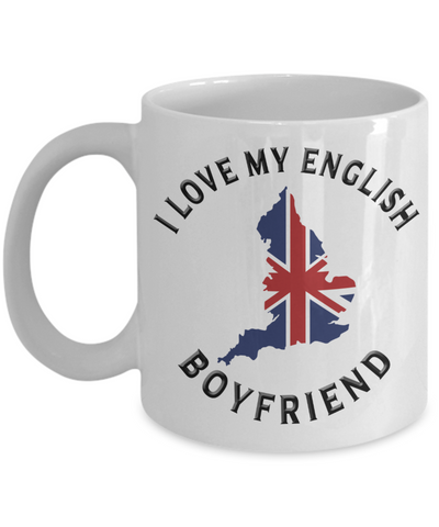 Image of I Love My English Boyfriend Mug Novelty Birthday Gift Ceramic Coffee Cup