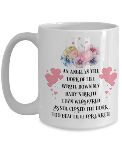 Image of Angel in Book of Life Mug Child Memorial Loving Memory Coffee Cup