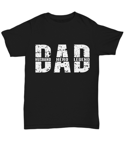 Dad Hero Legend Coffee T-Shirt With Lid Gift For Birthday Father's Day Tee