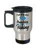 Cast Away Troubles Go Fishing Travel Mug Gift For Fisher Addict Novelty Hobby Coffee Cup