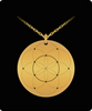 Seed of Life Pendant Sacred Geometry Laser Etched Gold Color Necklace