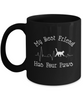 My Best Friend Has Four Paws Cat Heartbeat Mug Mom Dad Novelty Birthday Gift Ceramic Coffee Tea Cup