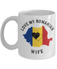 Love My Romanian Wife Mug Novelty Birthday Gift for Partner Ceramic Coffee Cup
