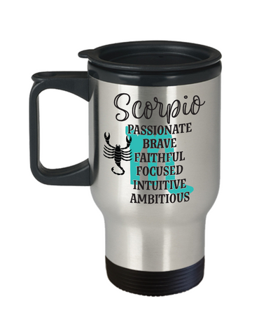 Scorpio Zodiac Travel Mug Gift Fun Novelty Birthday Coffee Cup
