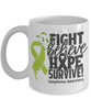 Fight Believe Hope Survive Lymphoma Mug Gift Cancer Awareness Support Coffee Cup