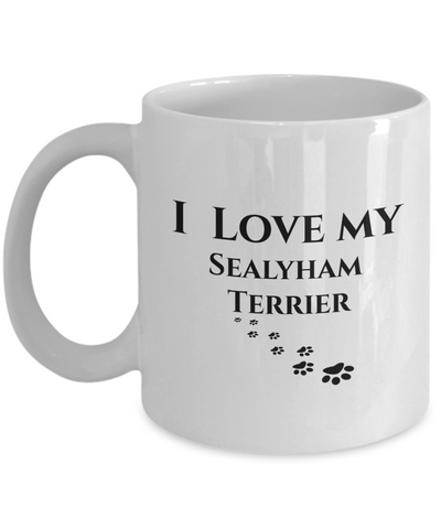 Image of I Love My Sealyham Terrier Mug Dog Mom Dad Lover Novelty Birthday Gifts Unique Coffee Mug Gifts