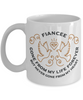 Fiancee Memorial Gift Mug Gone From My Life Always in My Heart Remembrance Memory Cup