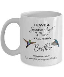 Brother Memorial Gift I Have a Guardian Angel... Brother Remembrance Gifts