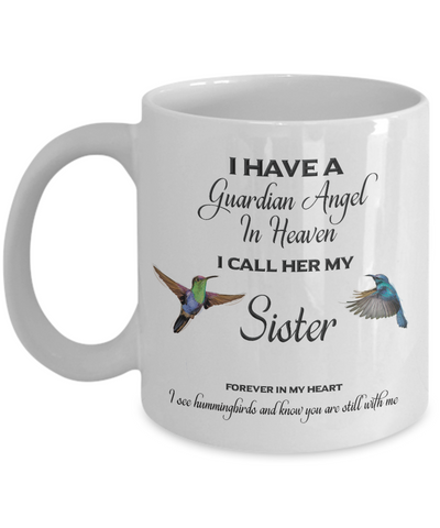 Image of Sister Memorial Gift I Have a Guardian Angel... Sister Remembrance Gifts
