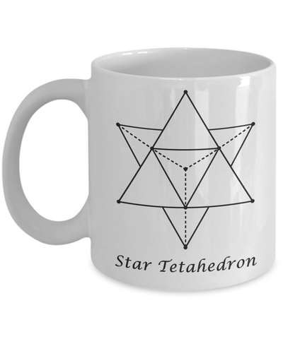 Image of Sacred Geometry Coffee Mug Gifts Star Tetahedron Ceramic Cup