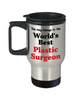 World's Best Plastic Surgeon Occupational Insulated Travel Mug With Lid Gift Novelty Birthday Thank You Appreciation Coffee Cup