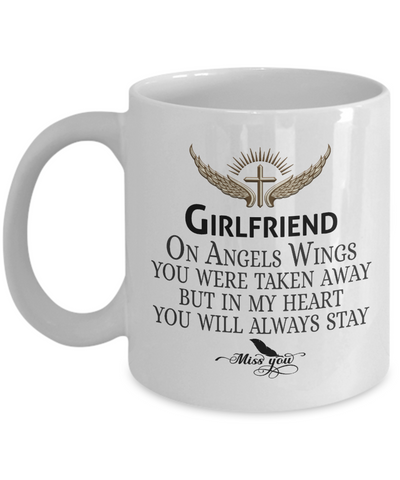 Girlfriend Angel Wings In Loving Memory Mug Gift Memorial Coffee Cup