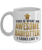 This is What an Awesome Babysitter Looks Like Gift Mug Fun Novelty Cup