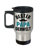 Bester Papa Derwelt Travel Mug Gift German Best Dad in The World Father's Coffee Cup