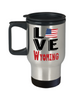 Love Wyoming State Travel Mug Gift Novelty American Keepsake Coffee Cup