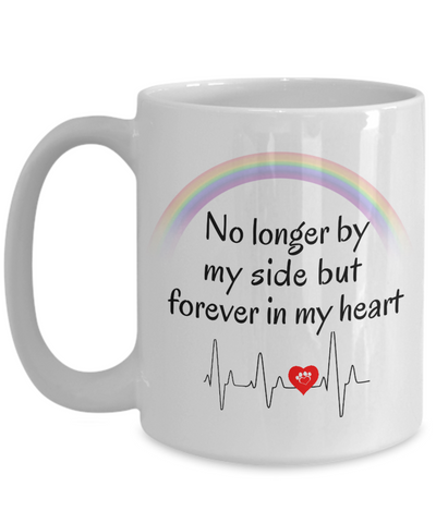 Image of In Memory of My Dog Cat Mug No Longer By My Side Pet Bereavement Remembrance Gifts