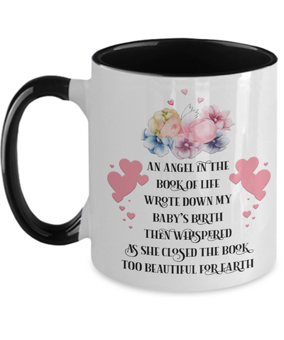 Angel in Book of Life Mug Child Memorial Loving Memory Two-Toned Cup