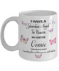 Guardian Angel in Heaven My Sister Connie Memorial Butterfly Mug Sympathy Remembrance Mourning Cup