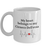 My Heart Belongs to My Cirneco Dell'etna Mug Dog Lover Novelty Birthday Gifts Unique Work Ceramic Coffee Gifts for Men Women