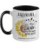 Nagymama Your Wings Were Ready Sunflower Mug In Loving Memory Two-Tone Coffee Cup