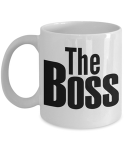 Best Bossman Day Mug The Boss Ceramic Coffee Cup for Employer Novelty Birthday Gifts