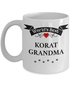 World's Best Korat Grandma Cup Unique Cat Coffee Mug Gifts for Women