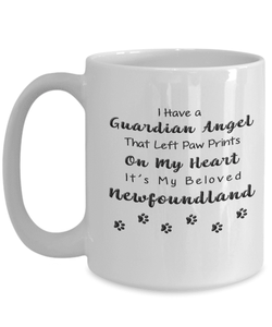 Newfoundland Memorial Gift,  I Have a Guardian Angel ...Newfoundland Pet Remembrance Gift