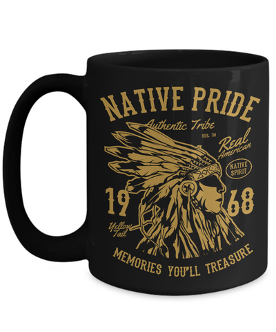 Image of US Patriotic Gifts Native American Pride Cups Unique Coffee Mug Gift For Men Women