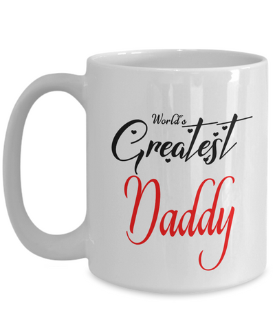 World's Greatest Daddy Mug Unique Novelty Birthday Christmas Gifts Ceramic Coffee Cup Gifts