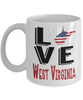 Love West Virginia State Mug Gift Novelty American Keepsake Coffee Cup
