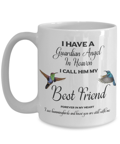 Image of Best Friend Memorial Gift I Have a Guardian Angel... Best Friend Remembrance Gifts
