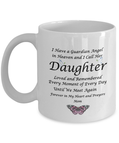 Image of Gift for Bereaved Mom  Guardian Angel in Heaven.. Daughter Remembrance Gift