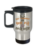 Soft Fur Therapist Cat Travel Mug With Lid Coffee Cup