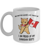 Proud Canadian Roots Mug Gift No Matter Where Life Takes Me Novelty Coffee Cup